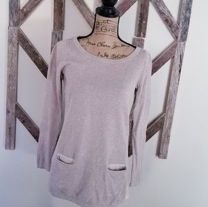 LOFT tunic long sleeve sweater with pockets XS